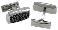 S.T. Dupont S.T. Dupont Luxury Gray Sharkskin Palladium St Steel Cufflinks