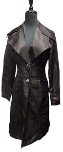 St. John John Evening Shiny Satin Jeweled Button Down Sma9816 Black Jacket