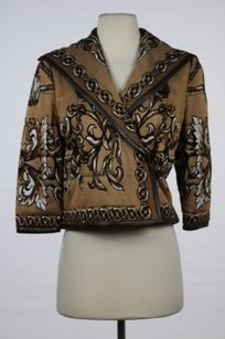 St. John St Collection Womens Brown Jacket