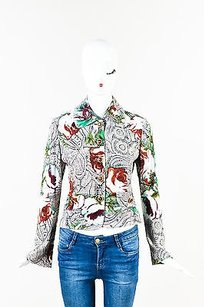 St. John Multicolor Floral Print Multi-Color Jacket