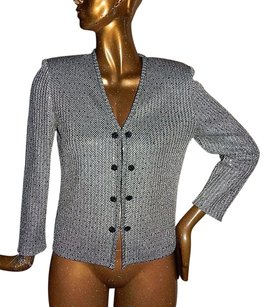 St. John St Evening Black Silver Multi-Color Jacket
