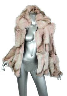 St. John Marbled Pink Genuine Fur Pinks Jacket