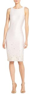 St. John Beaded Pearl Knit Formal Studded Dress