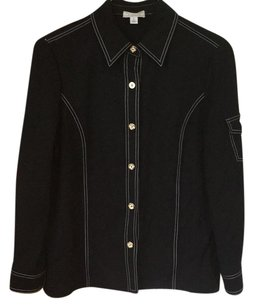 St. John Button Down Shirt Black