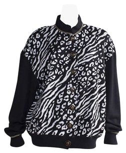 St. John Collection Black White Sweater