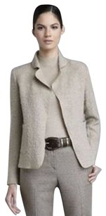 St. John Easy Fit Mohair Wool Oatmeal Jacket