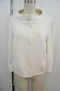 St. John St Collection Knit Cream Jacket