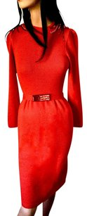 St. John Red Red Knit Red Knit Dress