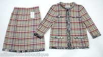St. John St. John Collection Plaid Multi-color Piece Skirt Suit