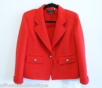 St. John St John Red Angora Blend Blazerjacket