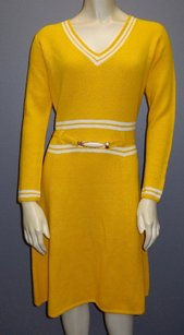 St. John Knits Knitted V Dress