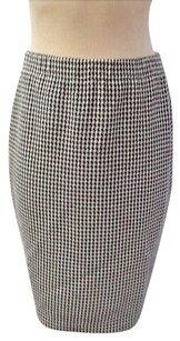 St. John Stretch Knit Skirt navy and white