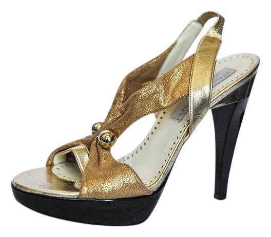 Metallic Faux Leather Pumps - Gold Stella McCartney Sale Comfortable Exclusive Cheap Price From China Cheap Online mv9PVrqBV1