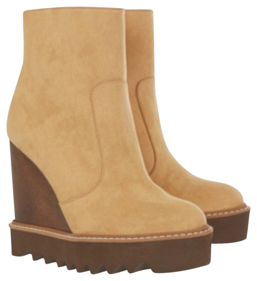 Stella McCartney Leana Faux-suede Wedge Boots/Booties Size US 7.5 Regular (M, B)