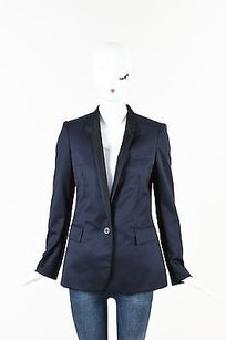 Stella McCartney Stella Mccartney Navy Black Trim Wool Tuxedo Blazer Jacket