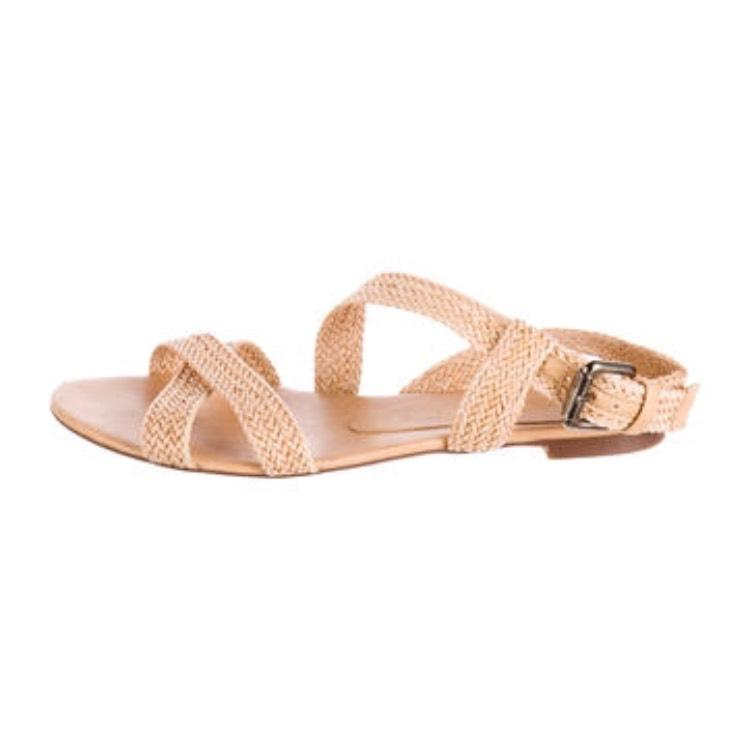 under $60 for sale Stella McCartney Woven Slingback Sandals authentic cheap price buy cheap perfect sale get to buy best place sale online ARviLvhk