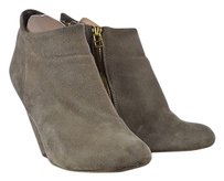 Steve Madden Panelope Womens Taupe Ankle Suede Heels Brown Boots