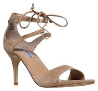 Steve Madden Ankle-strap Heels-and-pumps High High-heel Salsaasandsuede-8.5 Beige Sandals