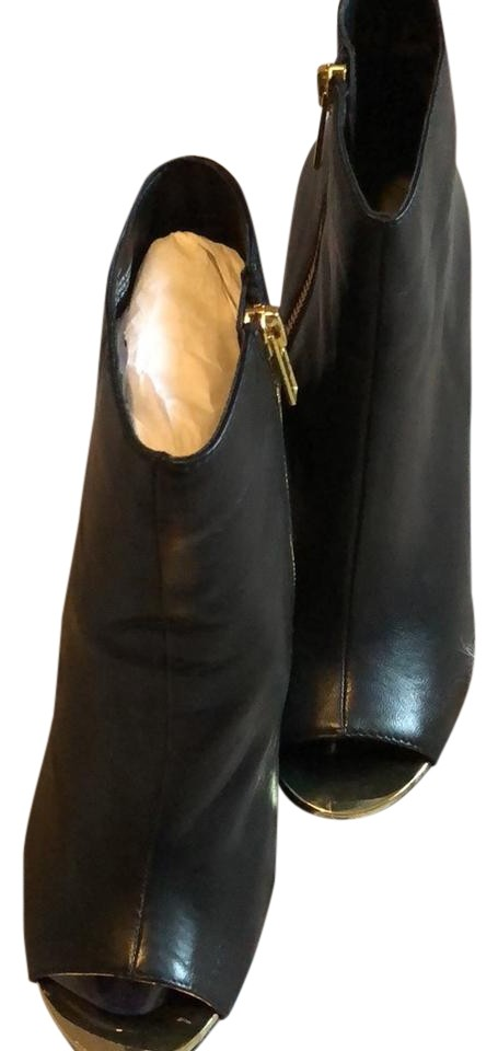 steve madden dianna black and gold boots on tradesy