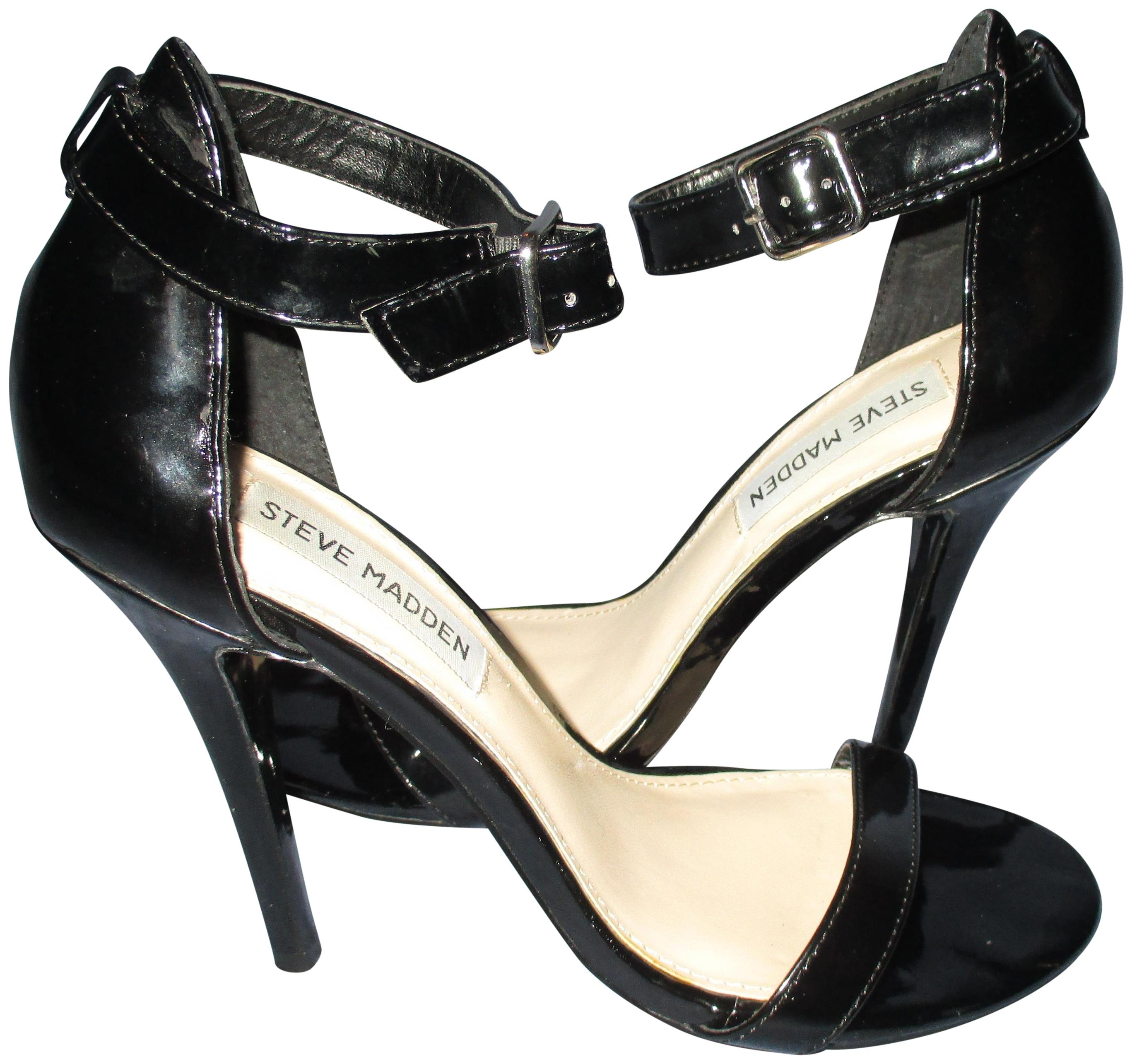 Steve Madden Black Regular Realove Heels Sandals Size US 7 Regular Black (M, B) f0010f