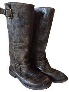 Steve Madden Distressed Weatered Brown Boots