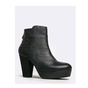 Steve Madden Heel Womens Close Toe Synthetic Black Boots