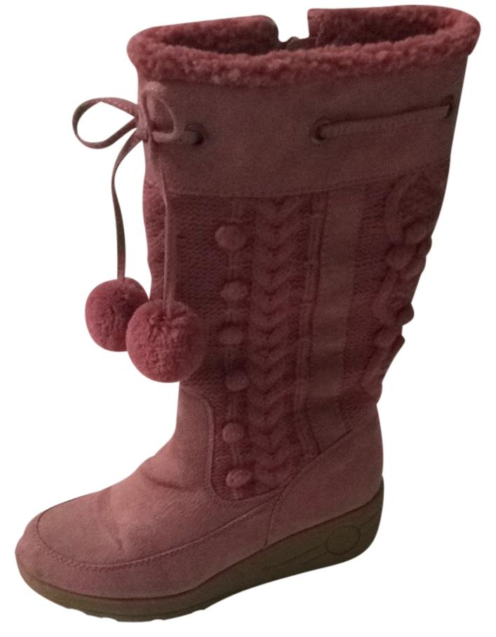 Steve Madden Pink Knit Snow Boots/Booties