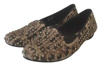 Steve Madden Studded Animal Print Loafers Flats