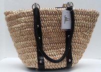 Straw Studios Woven Natural Tote in Beige