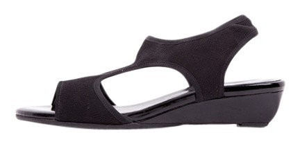 Stuart Weitzman Black Canvas Strap Sandals Size US 8.5 Regular (M, B)