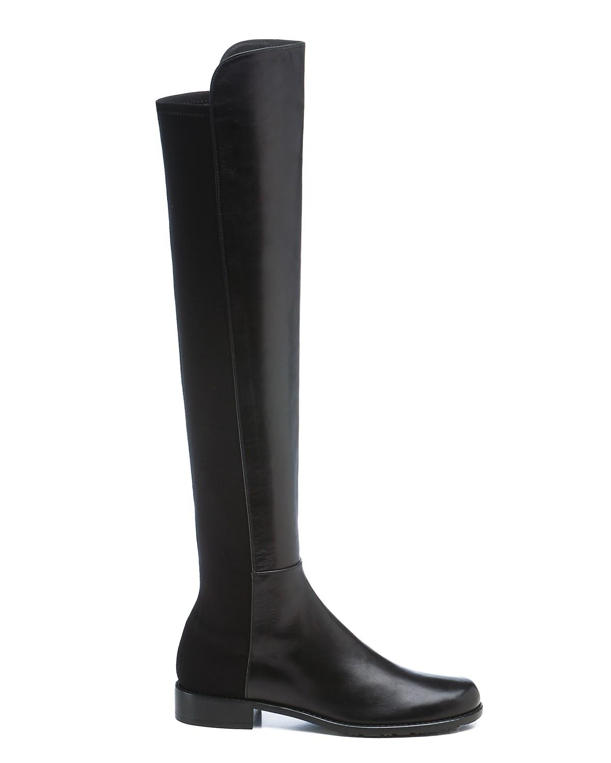 Stuart Weitzman Black New 5050 Otk Classic Leather Boots/Booties Size US 6.5 Regular (M, B)