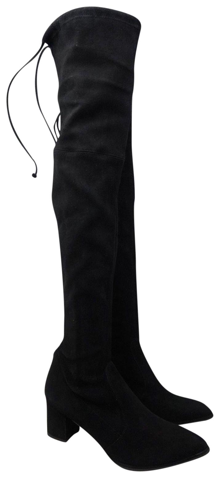 Stuart Weitzman Black Thighland Over The Knee Boots/Booties Size US 11 Regular (M, B)