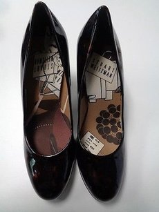 Stuart Weitzman Rounded Toe High Block Heels Leather B3346 Brown And Rust Pumps