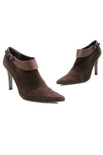 Stuart Weitzman Chocolate Suede Satin Pointed Toe Size 9us Chocolate (brown) Boots