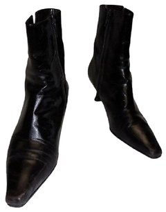 Stuart Weitzman Leather Cola Calf Pointed Toe High Heeled 9m Brown Boots