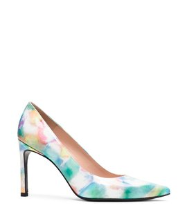 Stuart Weitzman Multi Patent Leather Pointed Toe Water Color Pumps