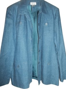 Style & Co Fall Jacket Blue Denim Blazer