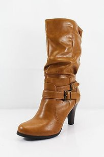 Style & Co Womens Man Made brown Boots