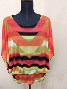 Style & Co Striped Pink Top Multi-Color