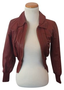 Styled by Maxone Burgundy Leather Jacket