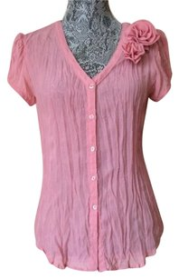 Sunny Leigh Button Down Shirt pink