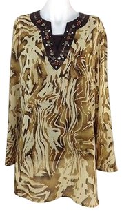 Susan Graver Womens Style Top Mixed Color