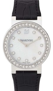 Swarovski Silver-Tone & Black Watch