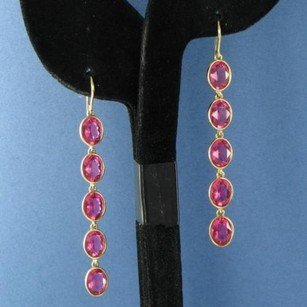 Swarovski Swarovski 1076331 Neva Earrings Rose Pink Crystals Gold Plated