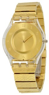 Swatch SFK355G Gold Tone Dial Gold Tone Stainless Women's Watch