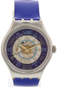 Swatch Swatch Platinum Automatic Watch 00123 Moon Phase Dial