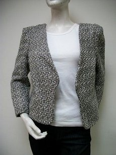 Sweet Rain Tweed Black and White Jacket
