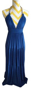 Deep Blue Maxi Dress by T-Bags Los Angeles Halter Maxi Halter Maxi Blue Maxi Halter Maxi