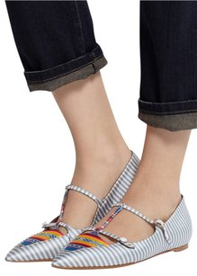 Tabitha Simmons Mary Janes Multi-Color Flats