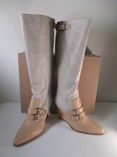 Tabitha Simmons Canvas beige Boots